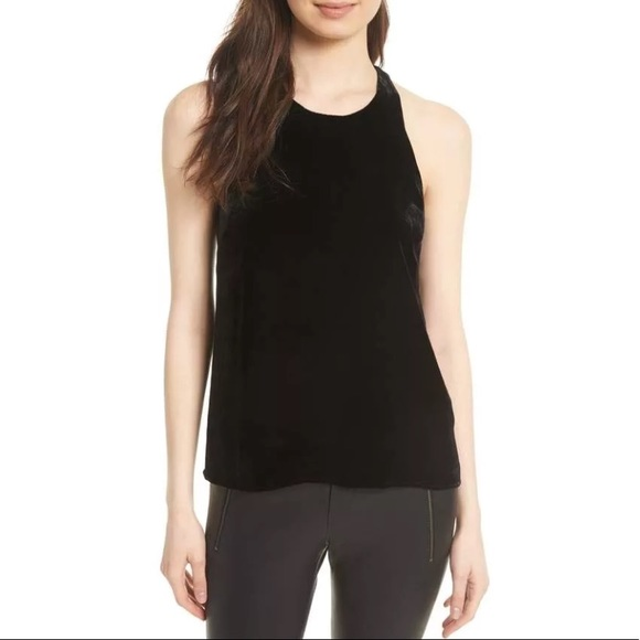 Joie Woman Brighton Velvet Top Black Size L Joie Discount View Really Sast Cheap Price Best Cheap Online kf6Xtz